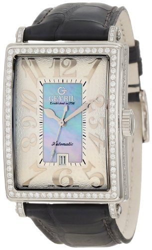Gevril Women's 6207NV Glamour Automatic Blue Diamond Watch