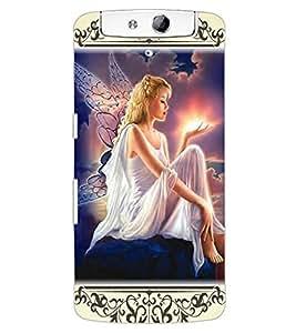 ColourCraft Angel Design Back Case Cover for OPPO N1