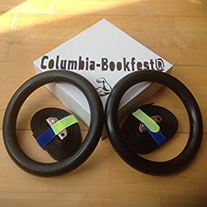 Olympus Gymnastic Rings For Crossfit Bodyweight Excercising, Suspension Training - Taking your body to a new level of strength & endurance. Part of the Columbia-Bookfest® PowerCords products.