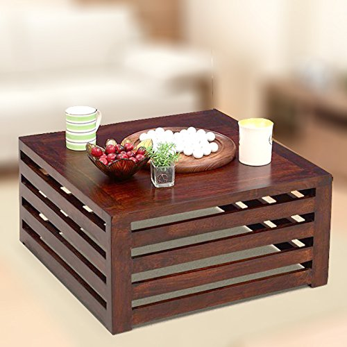 Homeedge Honey Coffee Table Of Mango Wood 23 X 23 X 11 Inches