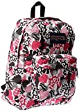 Jansport Superbreak Backpack (Black/White Bleeding Heart)