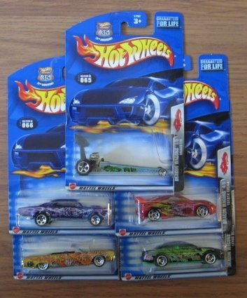hot-wheels-2003-dragon-wagons-complete-set-series-dragster-67-pontiac-gto-64-lincoln-continental-toy