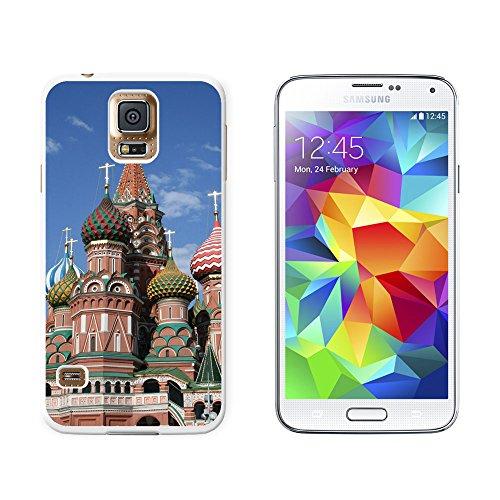 KreML St Basil's Cathedral Russland Rote Square Snap-On/Hartschalen-Schutzhülle für Samsung Galaxy-S5 weiß