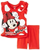 Disney Baby-Girls Minnie Infant Girl Bike Short Set- Red