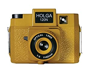Holga 185120 Sunset Blvd  Holgawood Collection Plastic Camera (Mustard)