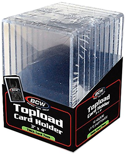 BCW Supplies 240 Pt. Thick Card Topload Holder (10 Count Pack)