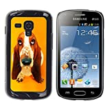 Paccase Hard Protective Case Cover Basset Hound  Pendant Ear Dog Samsung Galaxy S Duos S7562