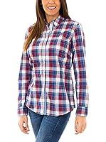 McGregor Camisa Mujer Alwin Rea Ls (Azul / Rojo / Blanco)
