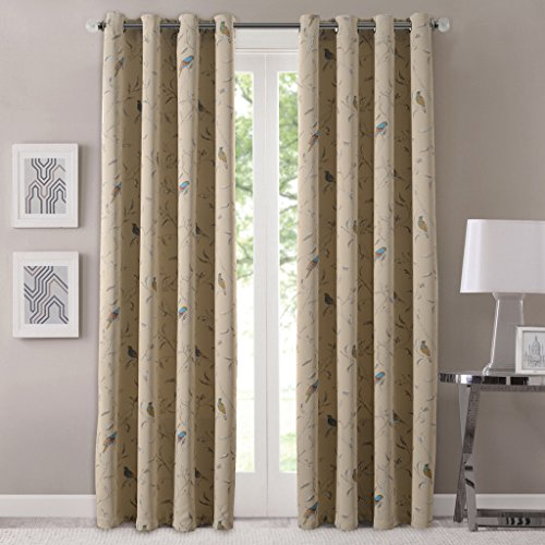 flamingo-p-one-panel-room-darkening-printed-taupe-country-birds-curtain-unlined-light-blocking-drape