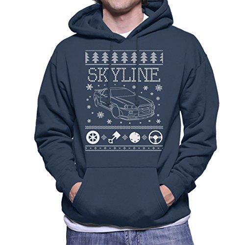nissan-skyline-christmas-knit-mens-hooded-sweatshirt