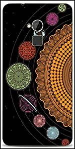 Snoogg Spiral Solar System 2792 Designer Protective Back Case Cover For HTC One-Max