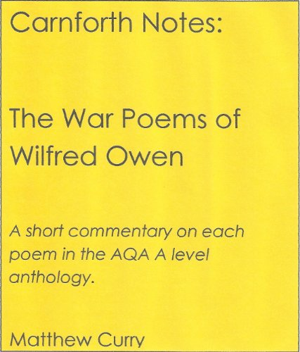 a comparison of the themes of emotional consequences of war in the poetry of wilfred owen and regene