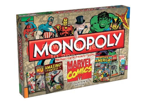 Marvel Comic Books Brettspiel Monopoly 1st Edition Covers *Englische Version