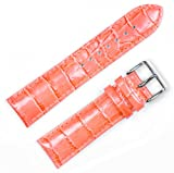 Crocodile Grain Watchband (Chrono) Orange 22mm Watch band - by deBeer