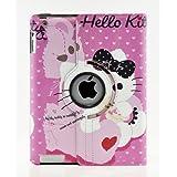 Hello Kitty Design 360 Degree Rotating PU Leather Hard Case For Apple IPad 4 3 2 Mini 2 With Retina And IPad Air... - B00GQOJ9R4
