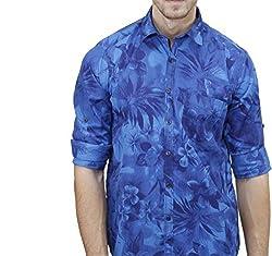 UNIXX Men's Casual Shirt (UXXS-13_Blue_42)