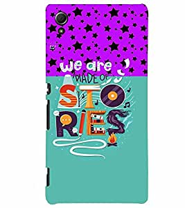 PrintVisa Quotes & Messages Life Colorful 3D Hard Polycarbonate Designer Back Case Cover for Sony Xperia Z4
