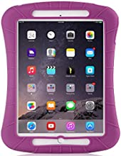 iXCC ® Shockproof Silicone Case Cover for All Apple iPad Air Models, Extreme Heavy Duty [Drop Proof, Kids Proof, Shock Proof, Anti slip] High Quality Rubber Soft Gel Material Offers Robust Protection for Kids, Baby, Children, Boys and Girls [Purple/Maroon]