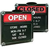 Headline Sign 3727 Double-Sided Open/Closed Tabbee Sign, 13 x 15 Inches, with 3/4-Inch Tabbee Characters (3727)