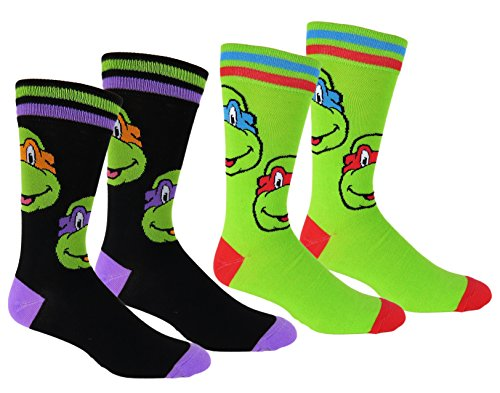 TMNT Casual Crew Socks 2 Pair Pack