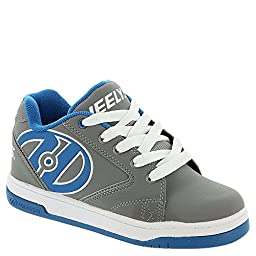 Heelys Boy\'s Propel 2.0 (Little Kid/Big Kid/Adult) Grey/Royal/White Sneaker 4 Big Kid, Men\'s 4 M