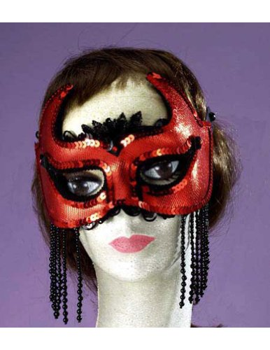 She Devil Half Mask Halloween Costume - Most Adults