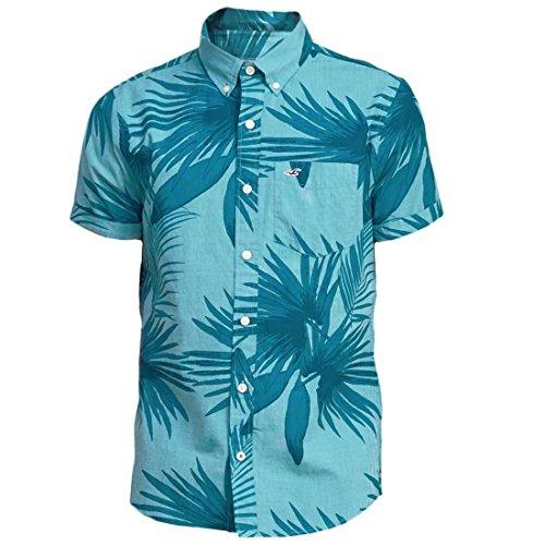hollister-uomo-patterned-ventura-beach-maglietta-turquoise-small