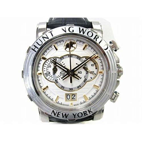[ハンティングワールド] HUNTING WORLD イリス 腕時計 ウォッチ ステンレススチール(SS)×レザーベルト HW913NV [並行輸入品]