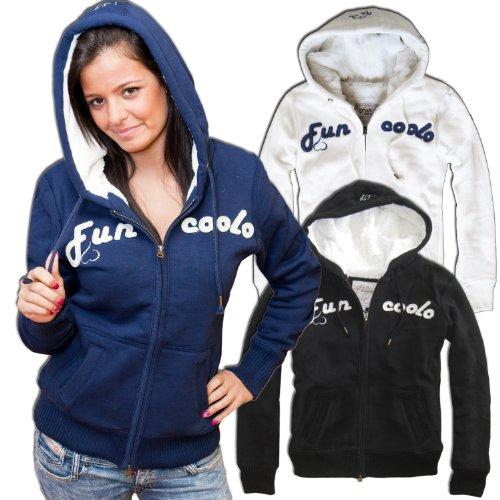 Fun Coolo giacca invernale con cappuccio e zip LH2 blu L