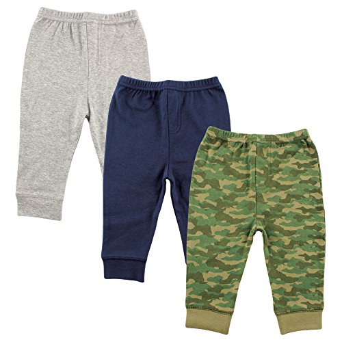 Luvable Friends Baby 3 Pack Ankle Pant, Camo, 9-12 Months
