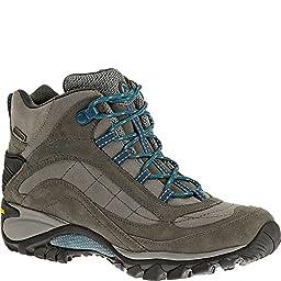 Merrell Women\'s Siren Waterproof Mid Hiking Boot,Castle Rock/Blue,11 M US