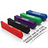 Pull Up Assist Bands - Stretch & Resistance Band - Mobility Band - Powerlifting Bands - BY POWER GUIDANCE - Perfect for Body Stretching, Powerlifting, Resistance Training - Single unit