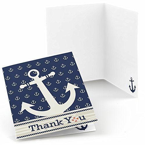 Ahoy - Nautical - Thank You Cards (8 count)