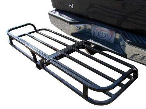 TMS T-CCR1948KB Heavy Duty Hitch Mounted Cargo Basket Luggage Carrier Hauler, 2-Inch