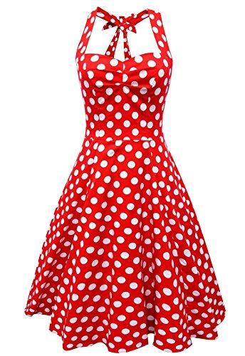 Anni-Coco-Femme-Robe--Pois-Vintage-Bretelle-Rockabilly-Anne-50-Swing-Robe-de-Bal