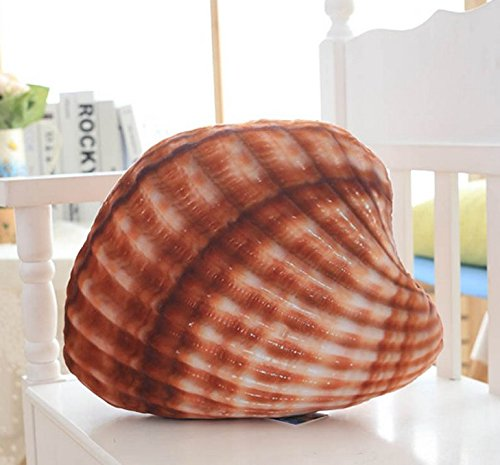 Stuffed Short Plush Conch Shells And Starfish Marine Organisms Food Neck Pillow Cushions Nap Doll Home Essential Quilt for Air Condition Room (Small shells: 36cm*36cm)