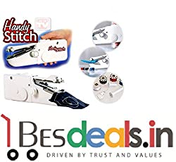 Best Deals - Portable Handy Stitch and Cordless Handheld Sewing Machine White