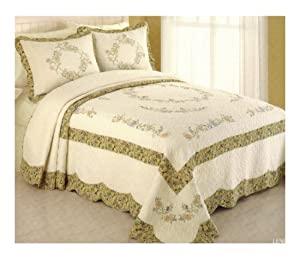 Luxury Modern Heirloom King Size Bedspread Lenora uDesign u Quilts