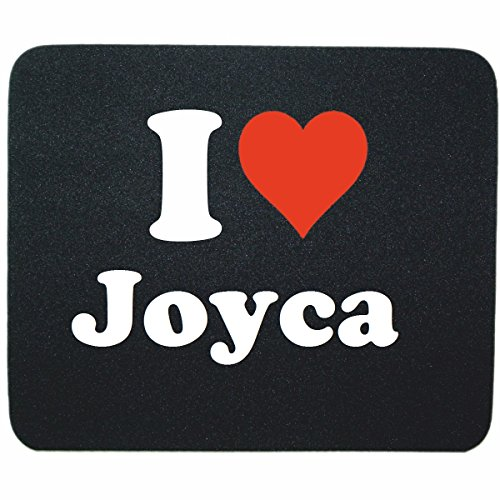 "ESCLUSIVO: Tappetino Mouse/ Mousepad ""I Love Joyca"" in Nero, una grande idea regalo per il vostro partner, colleghi e molti altri! - regalo di Pasqua, Pasqua, mouse, poggiapolsi, antiscivolo, gamer gioco, Pad, Windows, Mac, iOS, Linux, computer, laptop, notebook, PC, ufficio , tablet, Made in GERMANY."