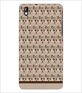 PrintDhaba Pattern D-1537 Back Case Cover for HTC DESIRE 816 (Multi-Coloured)