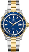 Tag Heuer Aquaracer Blue Dial Yellow…