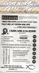 Friends Scripture Bible Verses Rub-Ons for Scrapbooking