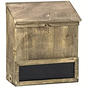 briefkasten antik finish holz tafel landhausstil amazon. Black Bedroom Furniture Sets. Home Design Ideas