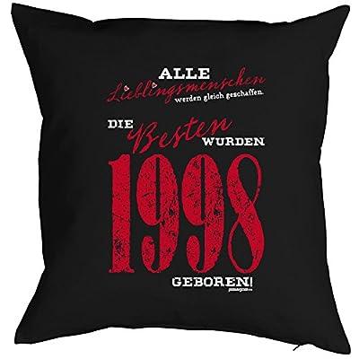 Geschenkidee zum 18 Geburtstag Kissen Lieblingsmenschen die Besten wurden 1998 geboren Polster zum 18. Geburtstag für 18-jähirge Dekokissen von Goodman Design - Gartenmöbel von Du und Dein Garten