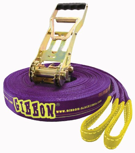 30m SURFER Gibbon Slackline Set - ultimate kick - XXL ratchet - 50mm width