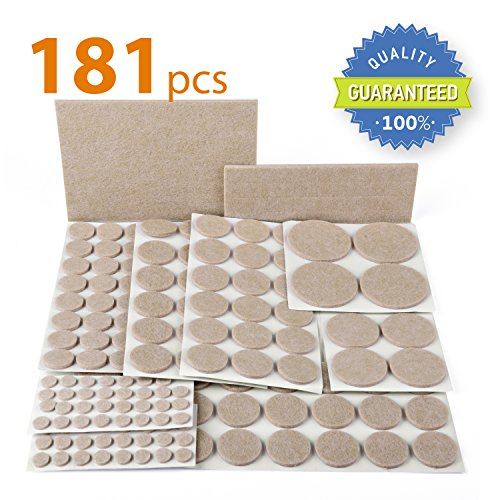 X-PROTECTOR PREMIUM ULTRA LARGE PACK Furniture Pads 181 piece! Felt Pads Furniture Feet ALL SIZES - Your Best Wood Floor Protectors. Protect Your Hardwood & Laminate Flooring with 100% Satisfaction! (Feet Felt compare prices)