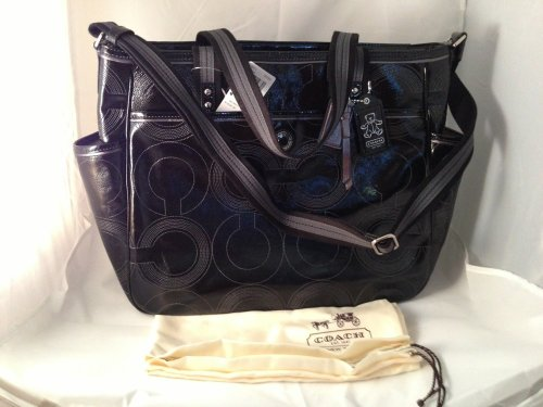 Coach Baby Bag Stitched Patent Tote - 19911 by Coach