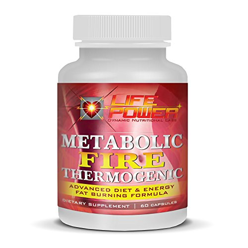 LifePower Labs Metabolic FIRE Thermogenic- Best Fat Burners Formula For Women & Men. Burn Fat, Increase Energy & Suppress Appetite By Utilizing Green Tea, Chromium Picolinate, Caffeine, Cha de Bugre, L-Theanine, Maca And Theobromine. 60 Capsules. (Fuel X 30 Atomic compare prices)