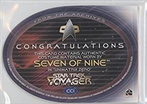 Seven of Nine (Trading Card) 2002 Rittenhouse The Complete Star Trek: Voyager Costume Cards #CC1