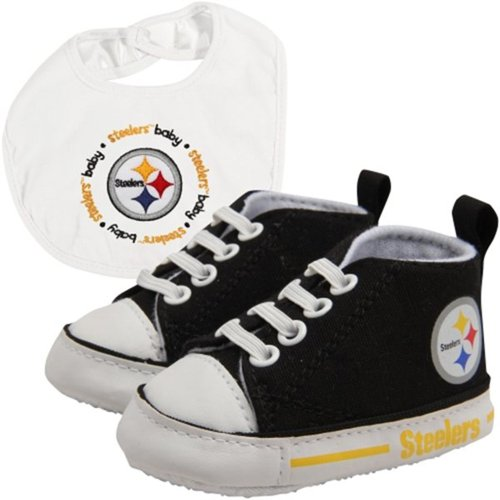 Pittsburgh Steelers Nfl Infant Bib And Shoe Gift Set front-999821